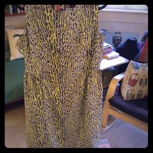 Gap Sz 8 patterned Dress - gray yellow